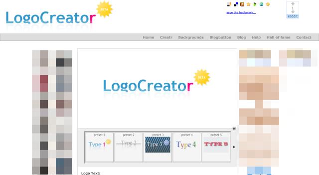 Logo Creatorのトップページ