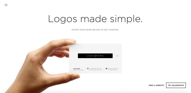 Squarespace Logoのトップページ