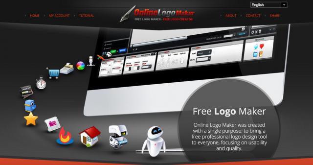 online logo makerのトップページ
