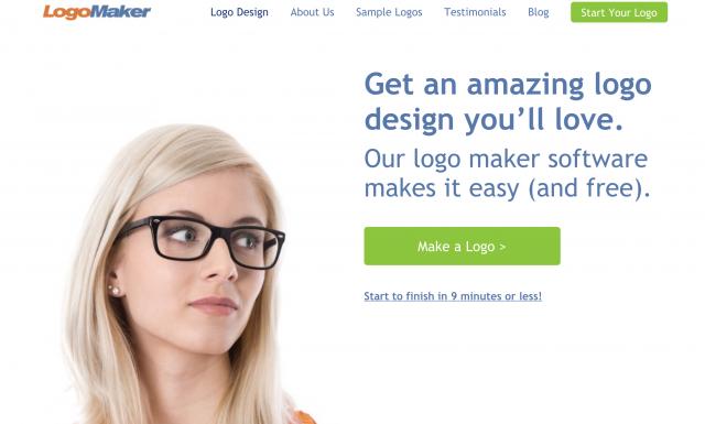 Logo Makerのトップページ