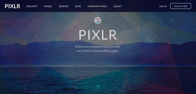 PIXLR editorのトップページ