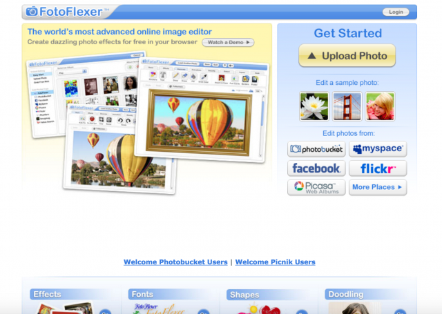 fotoflexerのトップページ