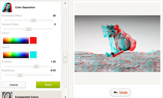 Picfullのカラーセパレーションの加工画面