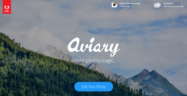 Aviaryのトップページ