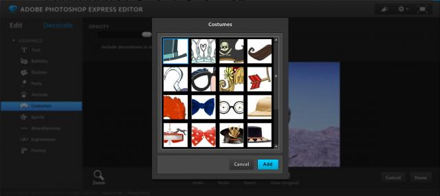 Photoshop Express Editorのスタンプ