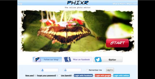 Phixrのトップページ