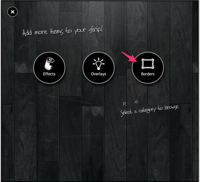 PIXLR o-maticのBorders追加画面
