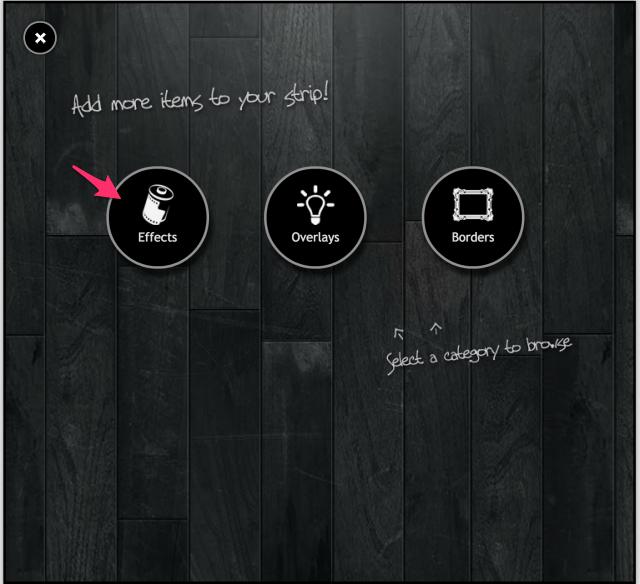 PIXLR o-maticのEffects追加画面