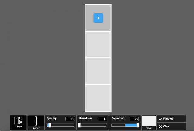 PIXLR expressのコラージュの加工画面