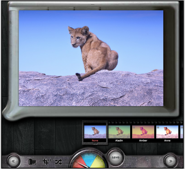 PIXLR o-maticの効果の加工画面