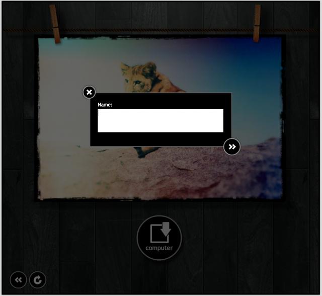 PIXLR o-maticの保存画面