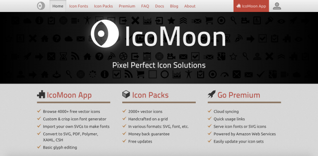 IcoMoonのトップページ