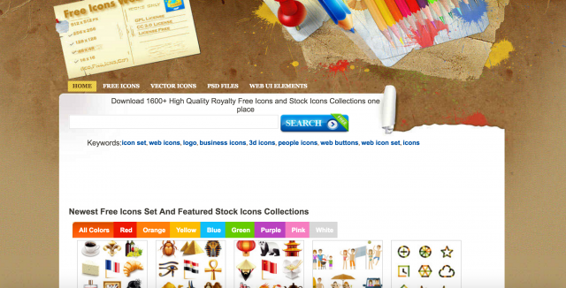 free icons webのトップページ