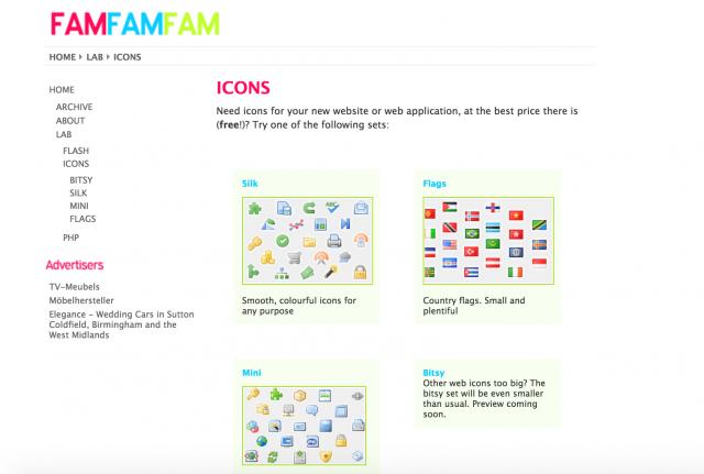 famfamfam.com: iconsのトップページ