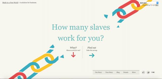 Slavery Footprintのサイト