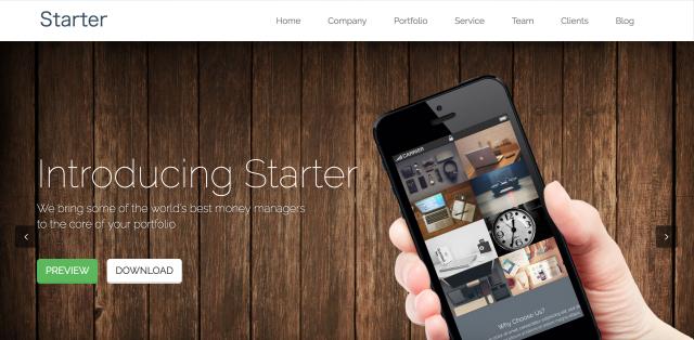 STARTERのサイト