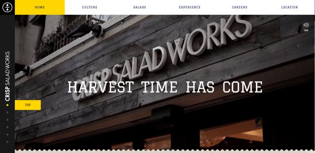 CRISP SALAD WORKSのサイト