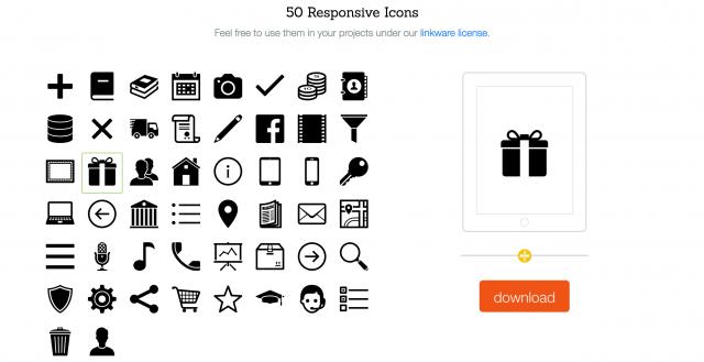 Icons8のレスポンシブアイコン