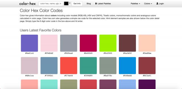 color-hexのトップページ