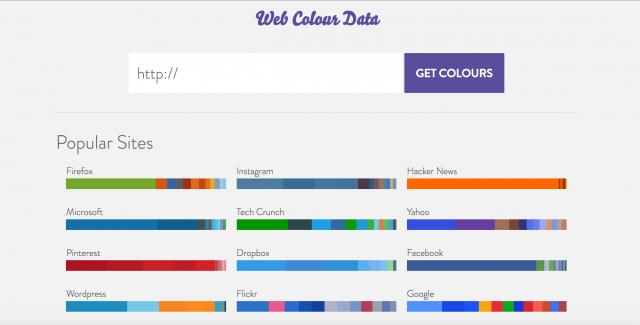 Web Colour Dataのトップページ