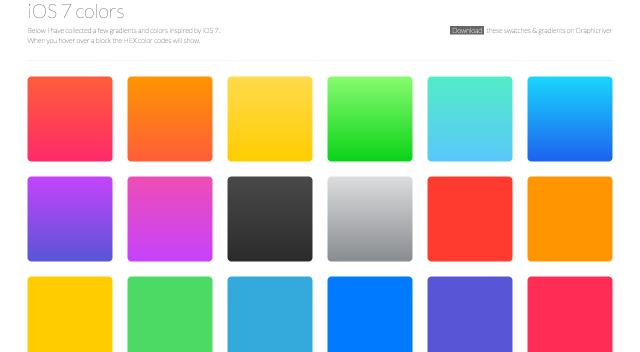 iOS 7 colorsのトップページ
