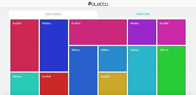 Palettaのトップページ