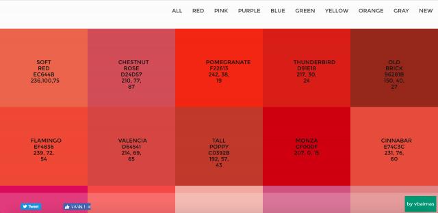 Flat UI Color Pickerのトップページ