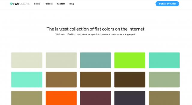 Flat Colorsのトップページ