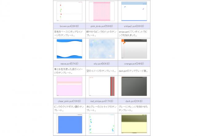PowerPoint Free Design Templateのトップページ