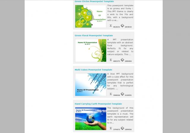 Powerpoint Stylesのトップページ