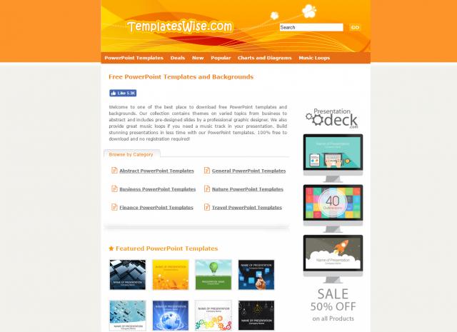 TemplatesWise.comのトップページ