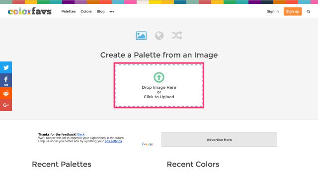 ColorFavsのトップページ