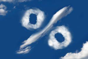 パーセントの形をした雲