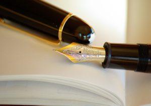 紙と万年筆