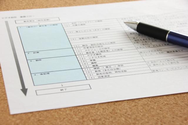 計画の用紙