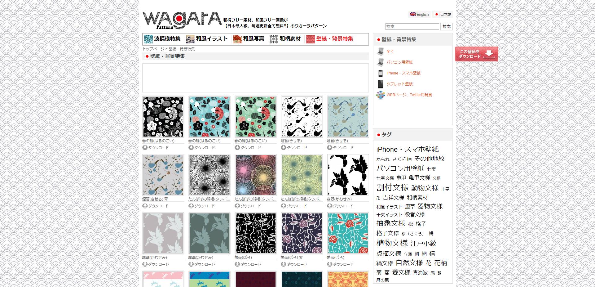 wagara pattern